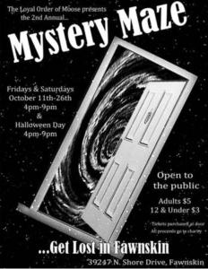 Mystery Maze at the Moose Lodge @ The Moose Lodge | Fawnskin | California | United States