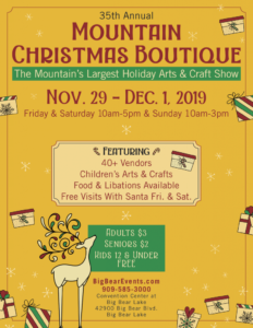 35th Annual Mountain Christmas Boutique @ Big Bear Lake Convention Center | Big Bear Lake | California | United States